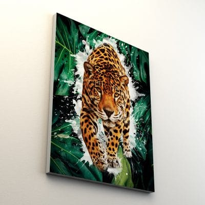 tableau leopard tigre