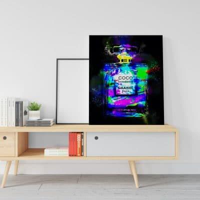 tableau luxe coco parfum pop art coloré