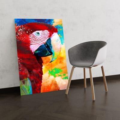 tableau perroquet couleur