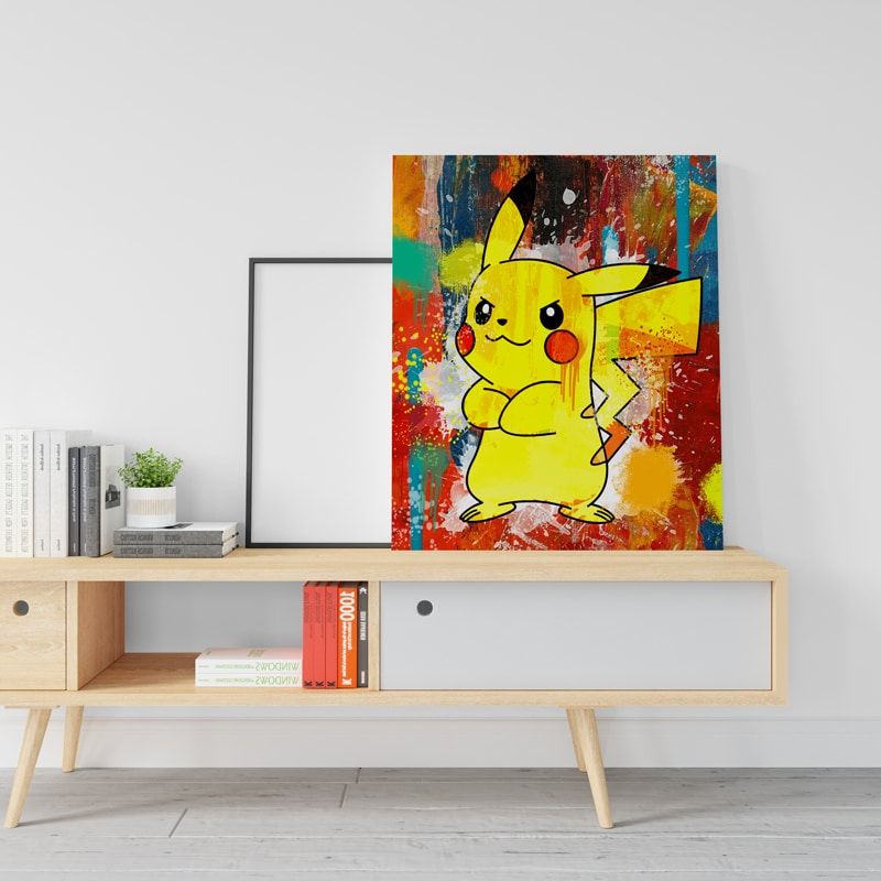 tableau pikachu pokemon decoration geek pokemon pikachu toile poster pikachu deco pikachu pokemon 03