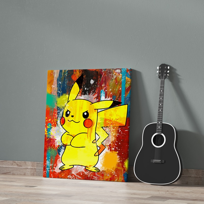 tableau pikachu pokemon decoration geek pokemon pikachu toile poster pikachu deco pikachu pokemon 05