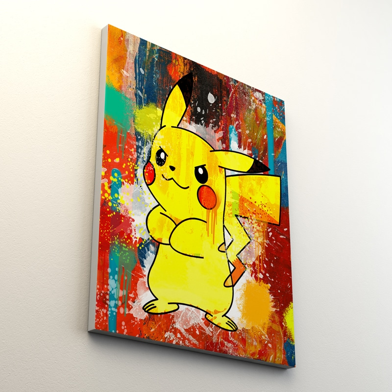 tableau pikachu pokemon decoration geek pokemon pikachu toile poster pikachu deco pikachu pokemon 06