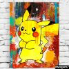 tableau pikachu pokemon decoration geek pokemon pikachu toile poster pikachu deco pikachu pokemon 07
