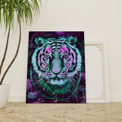 tableau toile tigre pop art