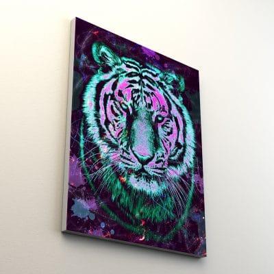 tableau toile tigre animaux coloré pop art