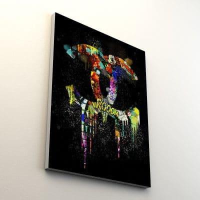 toile coco noir pop art