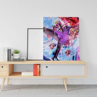 tableau colibri oiseau