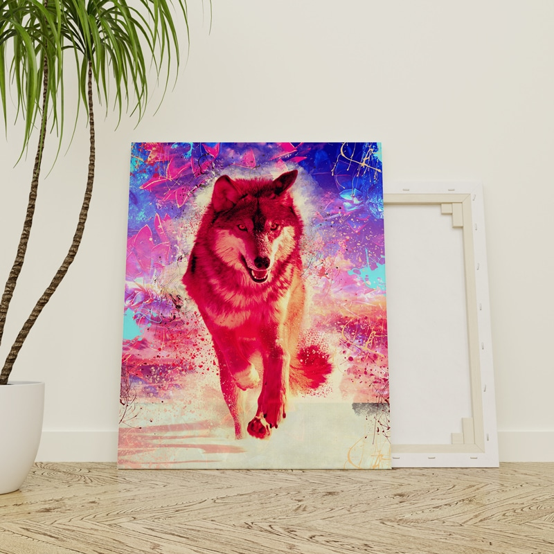 tableau toile loup poster