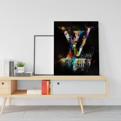tableau lvl pop art luxe coloré toile deco