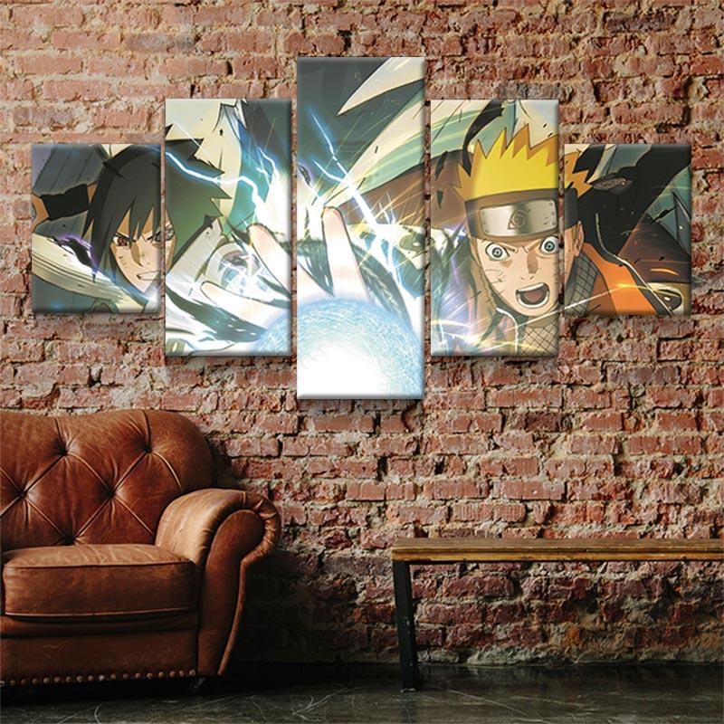 tableau naruto sasuke decoration mural geek