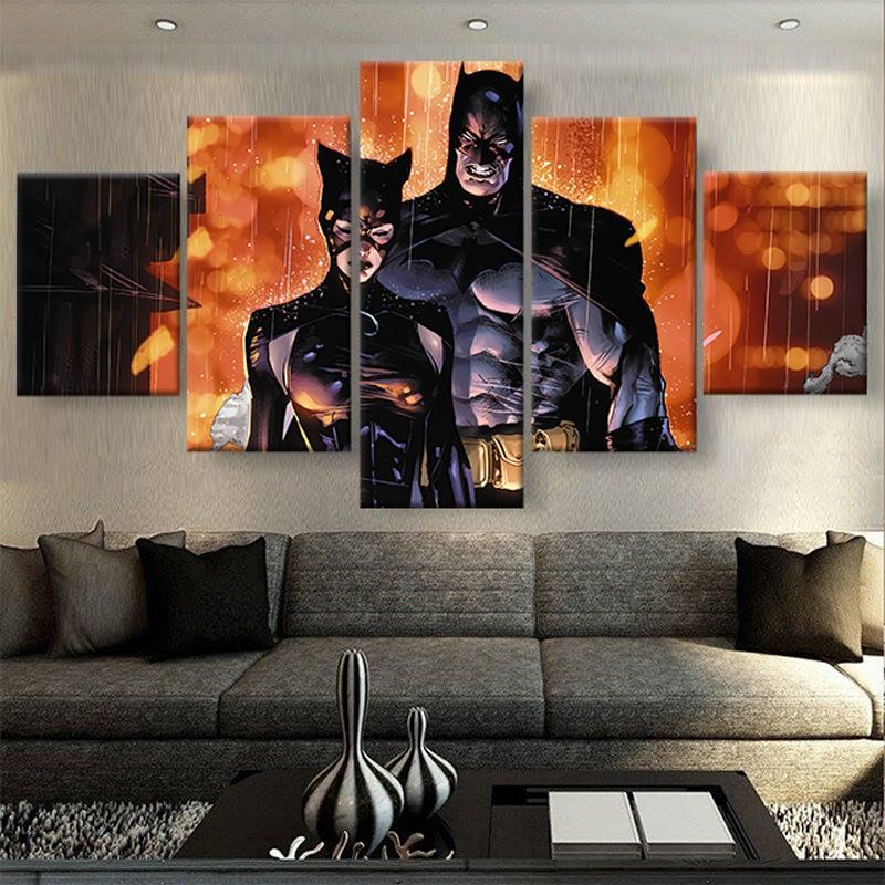 tableau batman catwoman poster toile