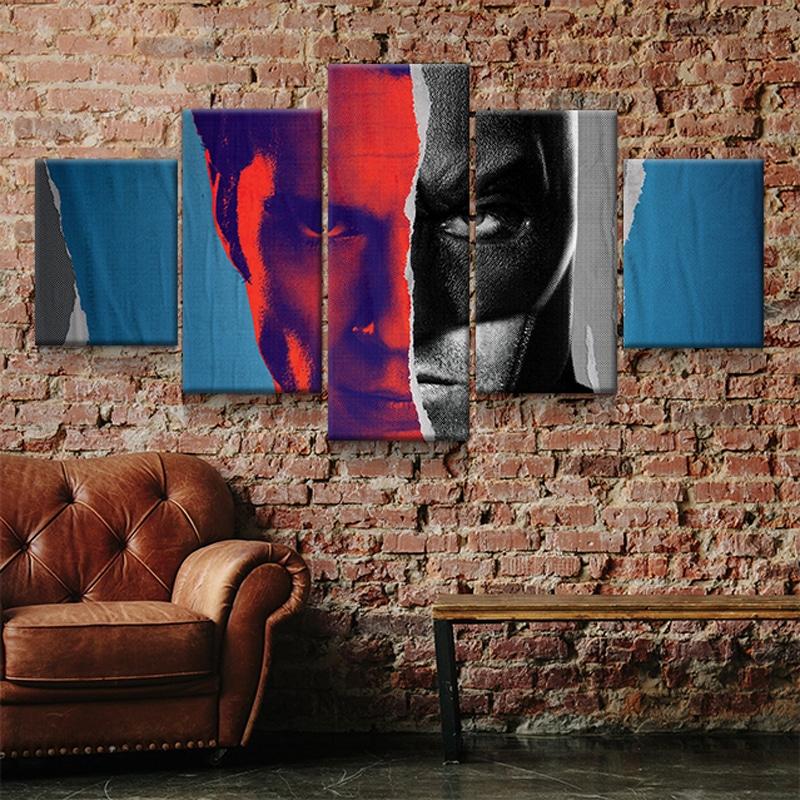 tableau superman vs batman toi deco poster cadre