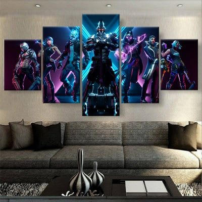 tableau fortnite geek poster toile deco fortnite cadeau fortnite