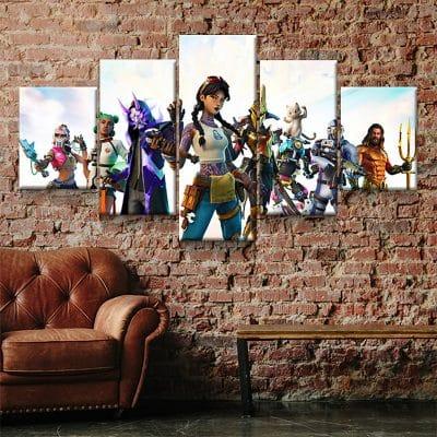 tableau fortnite saison 10 decoration murale geek fortnite cadre toile poster fortnite