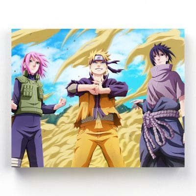 tableau naruto sasuke sakura decoration murale toile cadre poster naruto