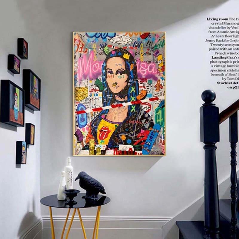 poster mona lisa street art