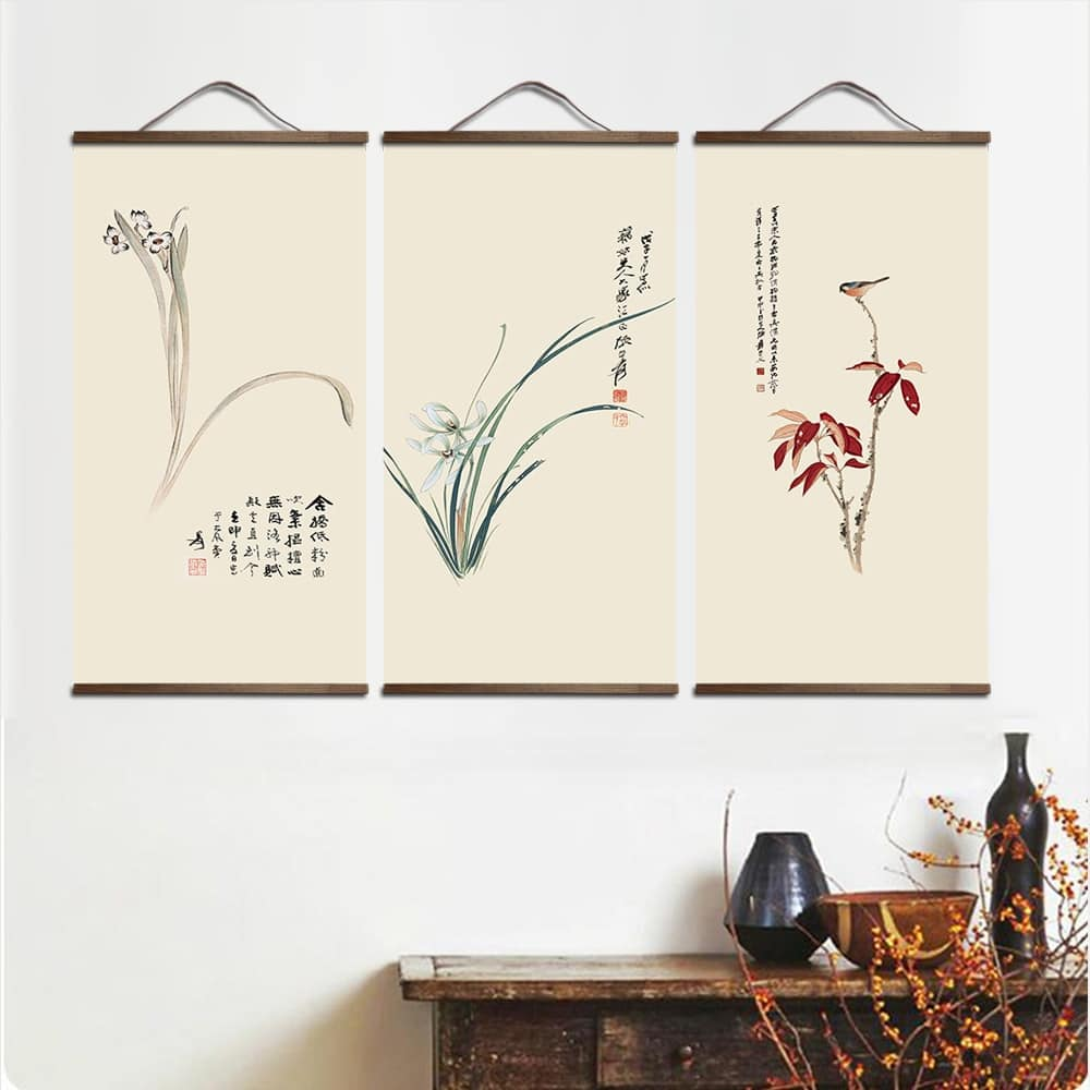 Tableau plante style chinois