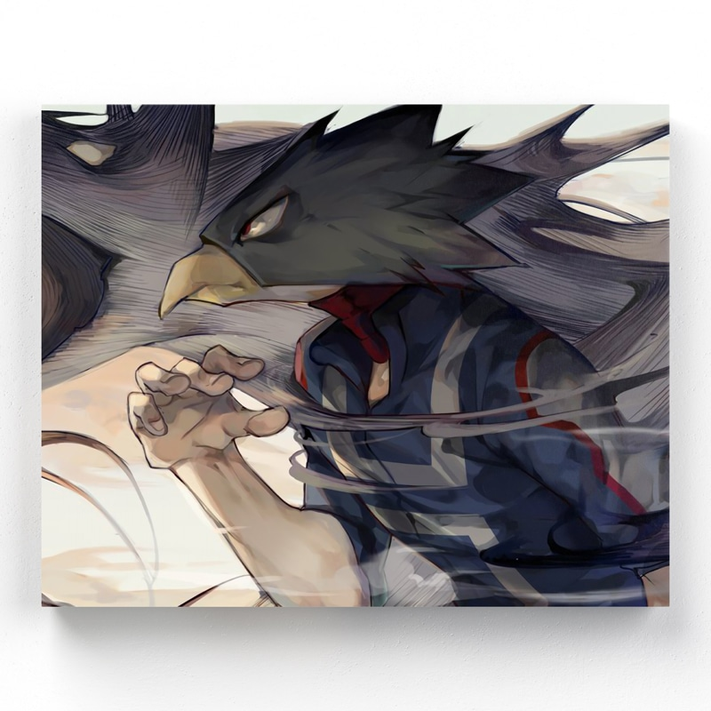 tableau-fumikage-tokoyami-my-hero-academia-cadre-toile-poster-01-1part