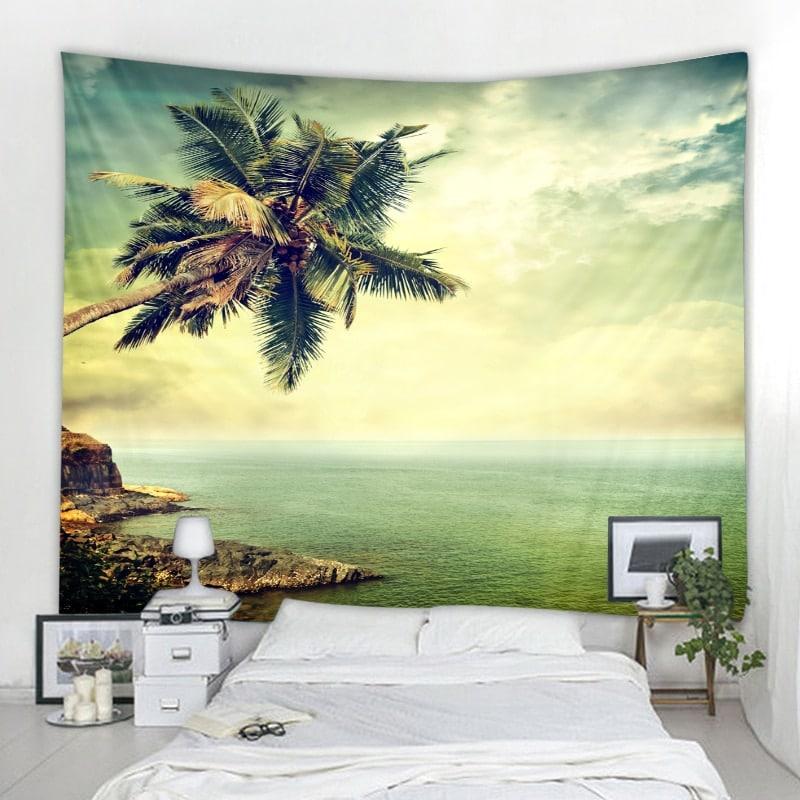 Tenture plage et océan